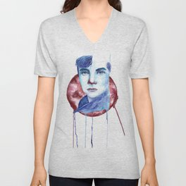 Cold-Blooded Watercolor Painting Unisex V-Neck