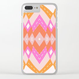 pink kilim Clear iPhone Case