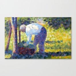Georges Seurat The Gardener Canvas Print