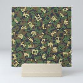 Gamer Camo WOODLAND Mini Art Print