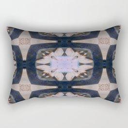 Fringed Petals on Peach Flower Pattern Rectangular Pillow
