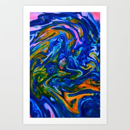 Milkblot No. 15 Art Print
