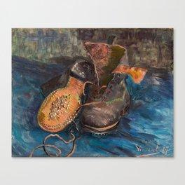 Vincent van Gogh - A Pair of Boots, 1887 Canvas Print