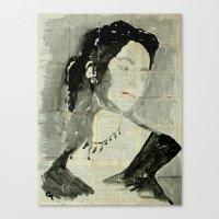 liz climo Canvas Prints featuring Liz .  by Marat Cherny