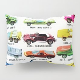 Ultra Rare Vintage Mexico Issue CIPSA Hot Wheels Redline Poster Pillow Sham