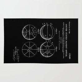 Basketball Patent - Black Rug