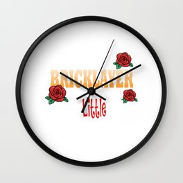 Female Bricklayer Wall Clock