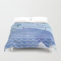 willy wonka Duvet Covers featuring Willy Whale by Stijl van het Huis