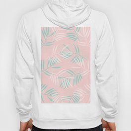 Palm Leaves Lace on blush Hoody