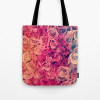 roses Tote Bags featuring Roses by Msimioni