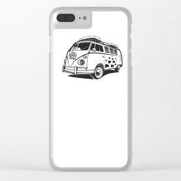 Love van wv 60s hippie surf Clear iPhone Case