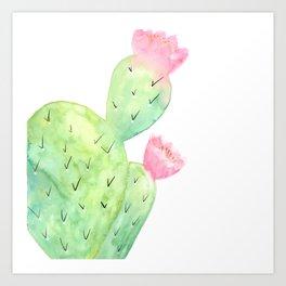 Watercolor Cactus   Buy Watercolor Art   Society 6 Art Print