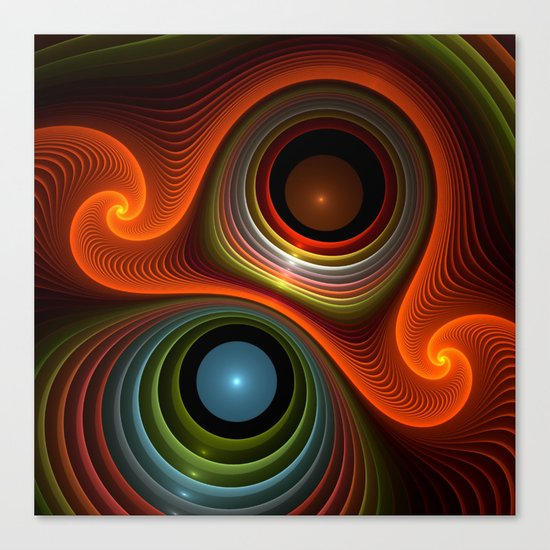round and colorful Canvas Print