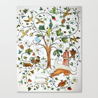 medieval Canvas Prints featuring MEDIEVAL by oxana zaika