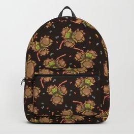 Dark hazelnuts pattern Backpack