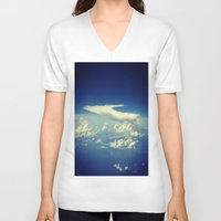 cloud V-neck T-shirts featuring  Cloud by Sumii Haleem
