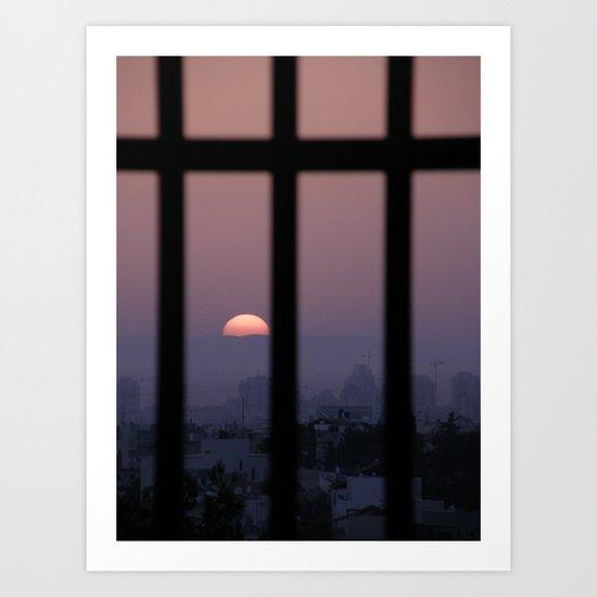 Sunrise prison Art Print