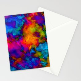 Vibrant Abstract Color Explosion  Stationery Cards
