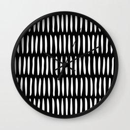 Classy Handpainted Stripes Pattern Black, Scandinavian Design Wall Clock