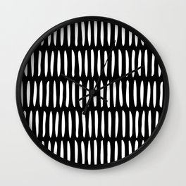 Classy Handpainted Stripes Pattern Black, Scandinavian Design Wall Clock