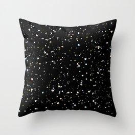 TERRAZZO on black Throw Pillow