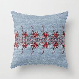 Denim Lace 12 Throw Pillow