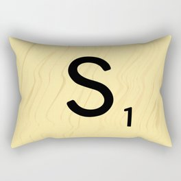Scrabble S - Large Scrabble Tile Letter Rectangular Pillow