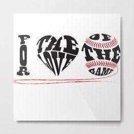 I Love Baseball Metal Print
