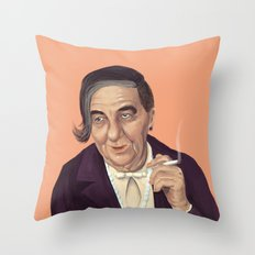 The Israeli Hipster leaders - Golda Meir Throw Pillow