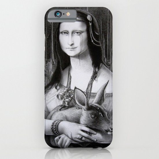 Mona Lisa in the forest iPhone & iPod Case