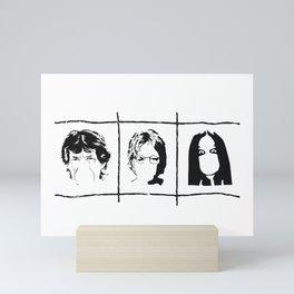 Famous singers Mini Art Print