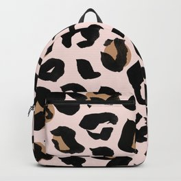 Blush Leopard Print Backpack
