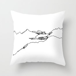 Hurricane Ridge One Line - Olympic National Park Washingon State Throw Pillow
