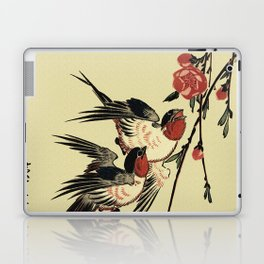 Moon Swallows and Peach Blossoms Laptop & iPad Skin