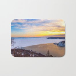 Lake Baikal and Angara River Bath Mat