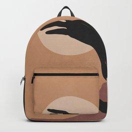 Minimal Abstract Art Sunset Girl Backpack