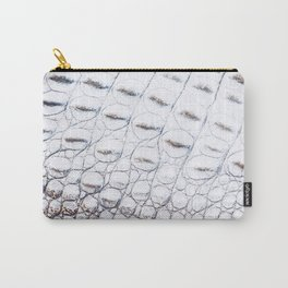 Crocodile up close - white and pale yellow Carry-All Pouch