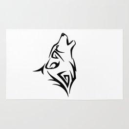 Tribal Wolf Howl Rug