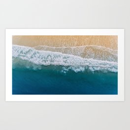 Water on the Beach (Color) Art Print