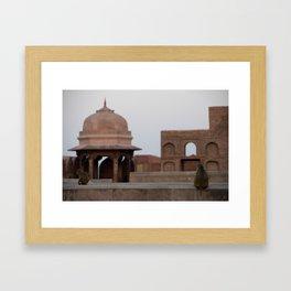 Monkeys at Agra Fort Framed Art Print