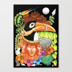 Toucan Fantasy Art Design Canvas Print