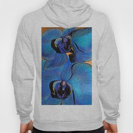 Face of the blue orchid Hoody