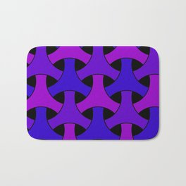 Geometric Design 2 (Purple) Bath Mat