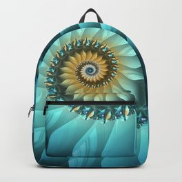 Mystical Gold and Blue Spiral Backpack