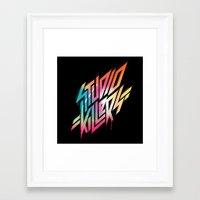 studio killers Framed Art Prints featuring Studio Killers by STUDIOKILLERS