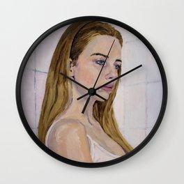 Girl in a Bathroom Wall Clock