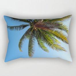Palm Tree Akumal Beach Rectangular Pillow