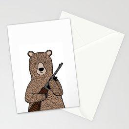 Danger bear color mode Stationery Cards