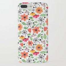 Dandelions & Flowers / White iPhone 7 Plus Slim Case