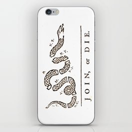 Join or Die iPhone Skin
